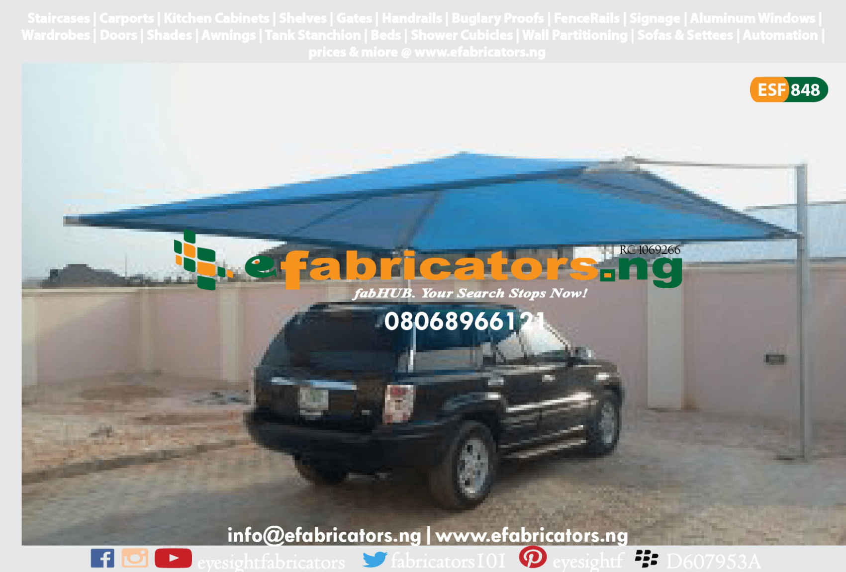 Carport | Shade Net Roof | Car Park Canopy Carport Car Canopy