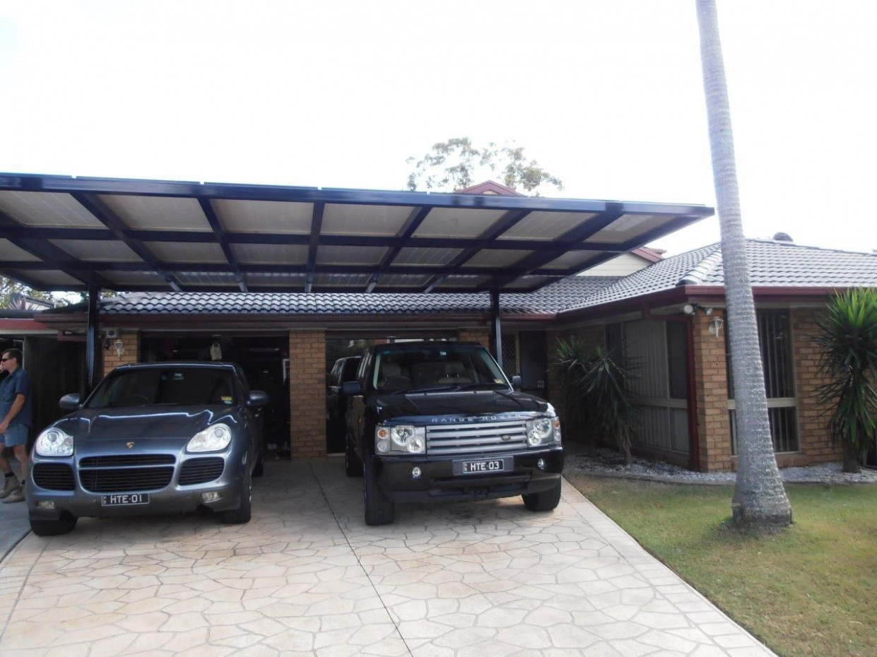 Carport & Solar Panel Structure. Cantilevered Steel Carport ..
