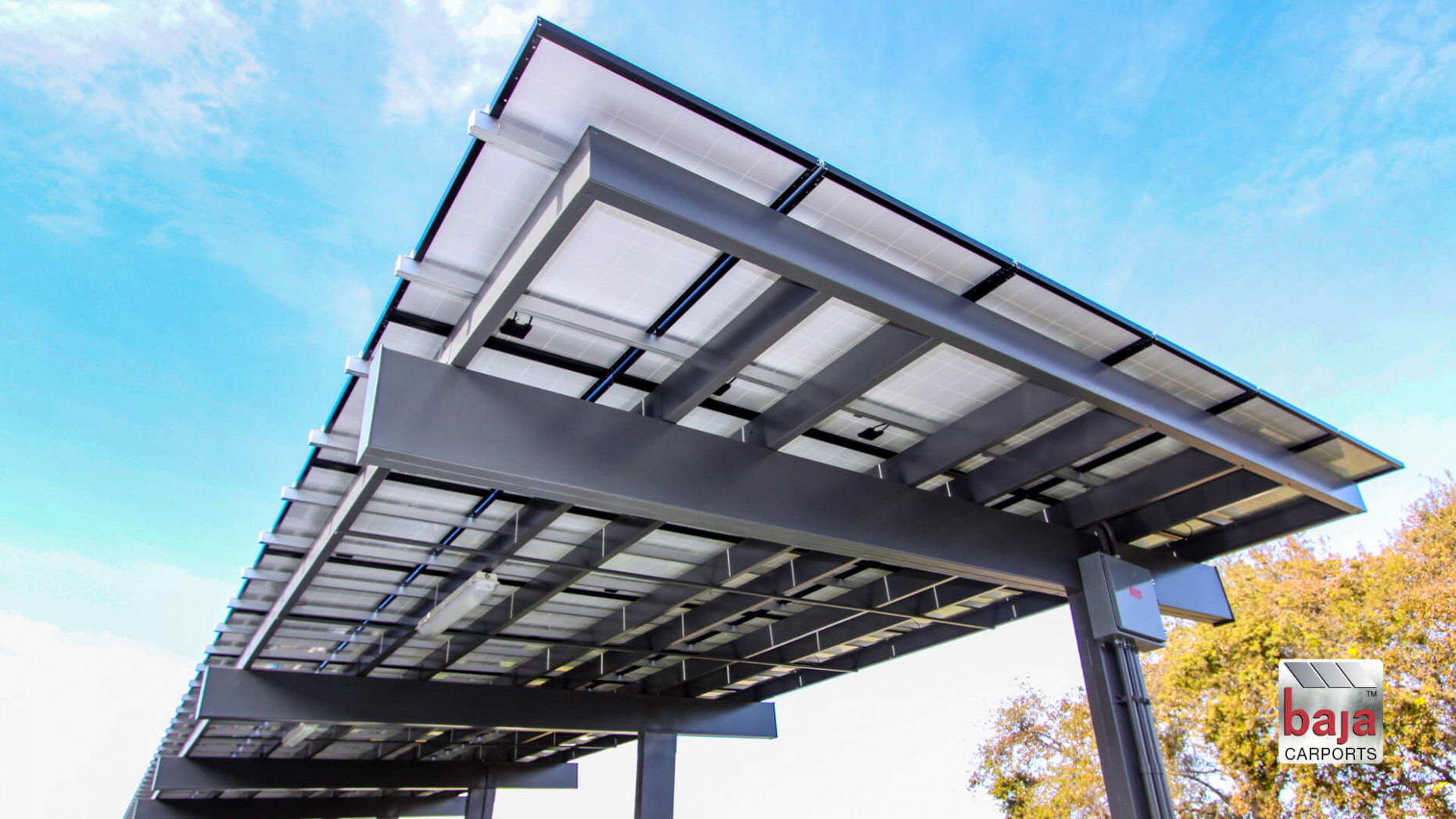 Carport Solutions For Parking Lots | Baja Carports Executive Carport Parking