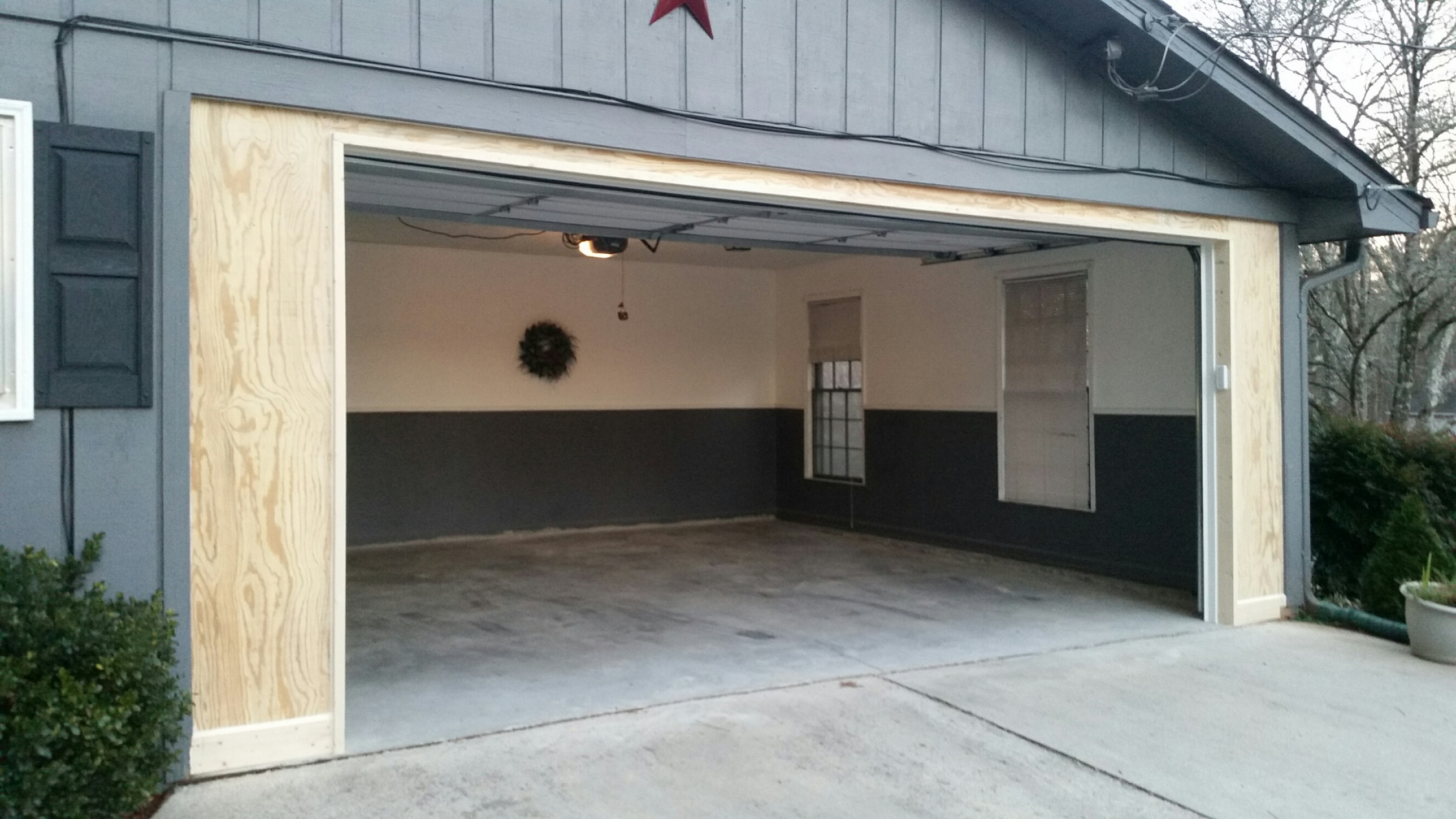 Carport To Garage Conversion | Overhead Door Of Georgia Carport In Front Of Garage