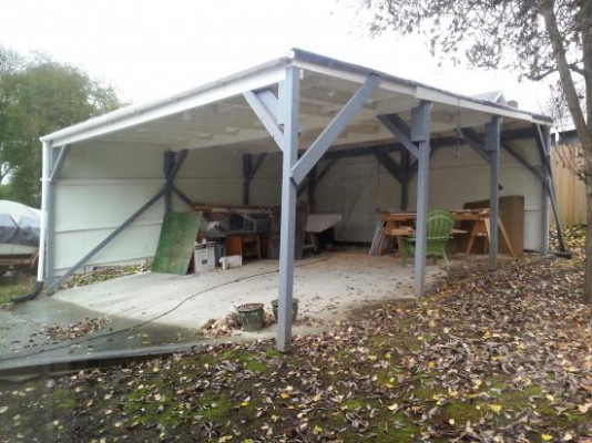 Carport To Garage Uneven Concrete Pad What To Do ..