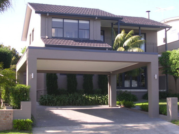 Carport With Flat Roof And Ceiling   Colorbond Steel Flat ..