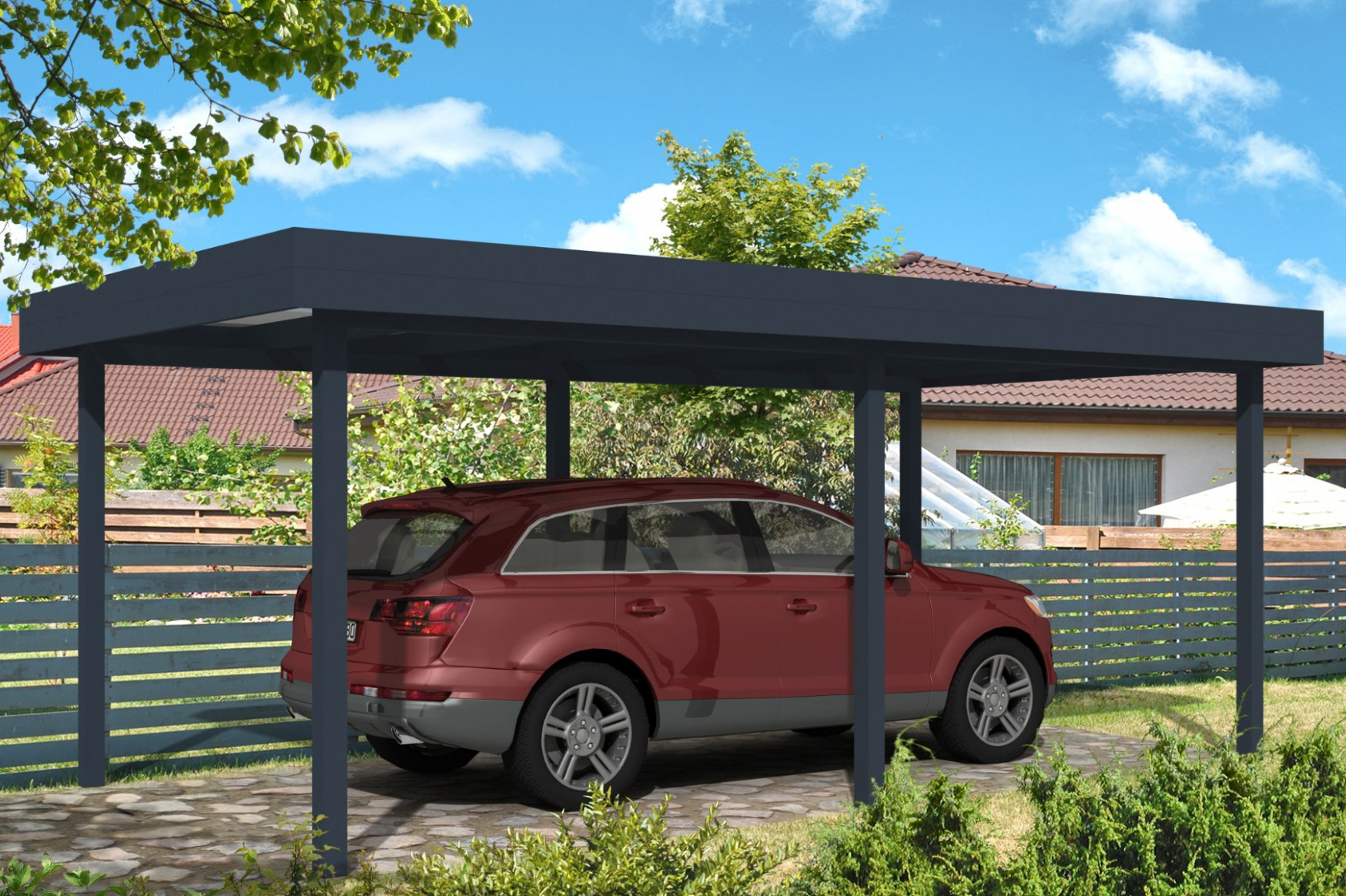 Carport With Flat Roof From RoomOutdoors Ireland Carport And Roof