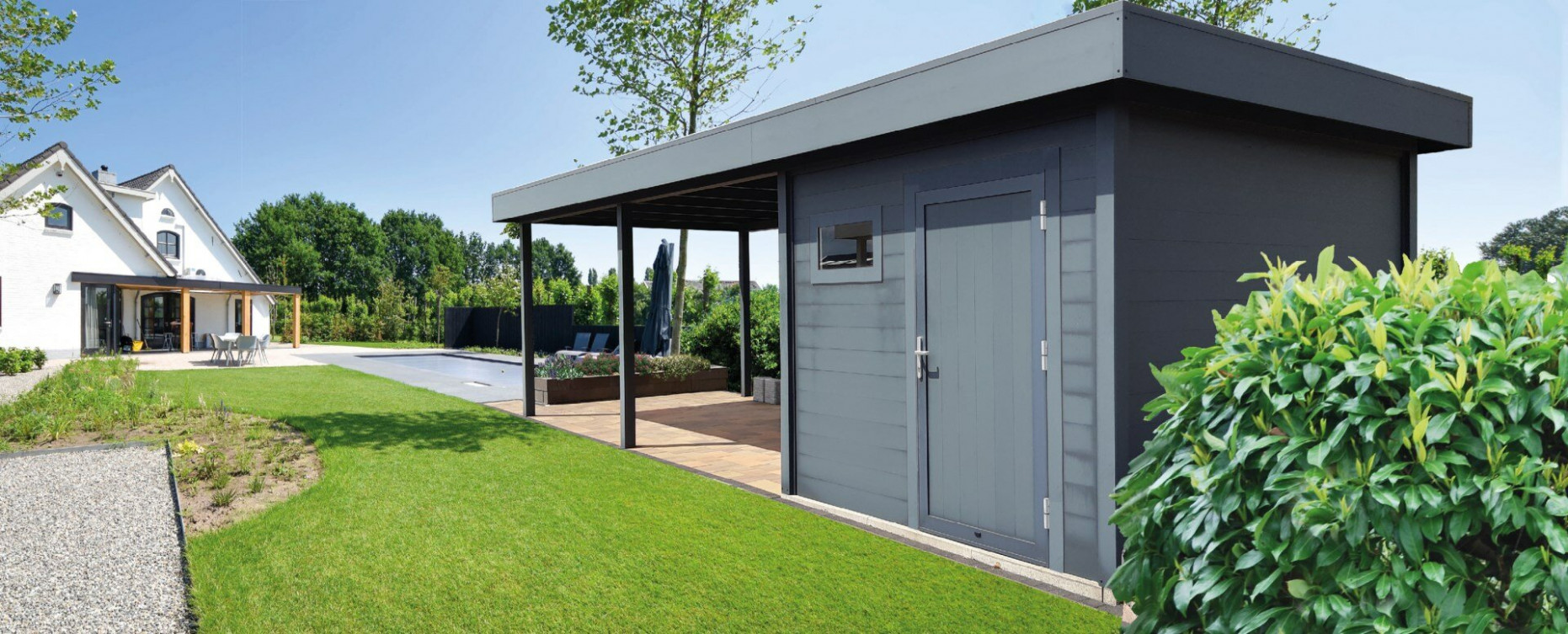 Carport With Flat Roof | Gardendreams Carports With Flat Roofs