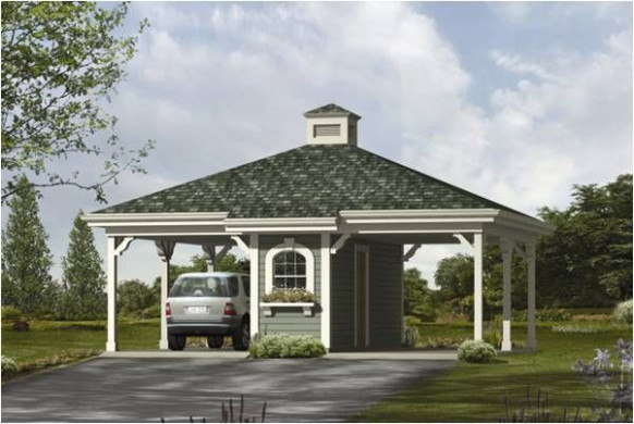 Carport With Hip Roof And Storage Area | Outdoors Hip Roof Metal Carports