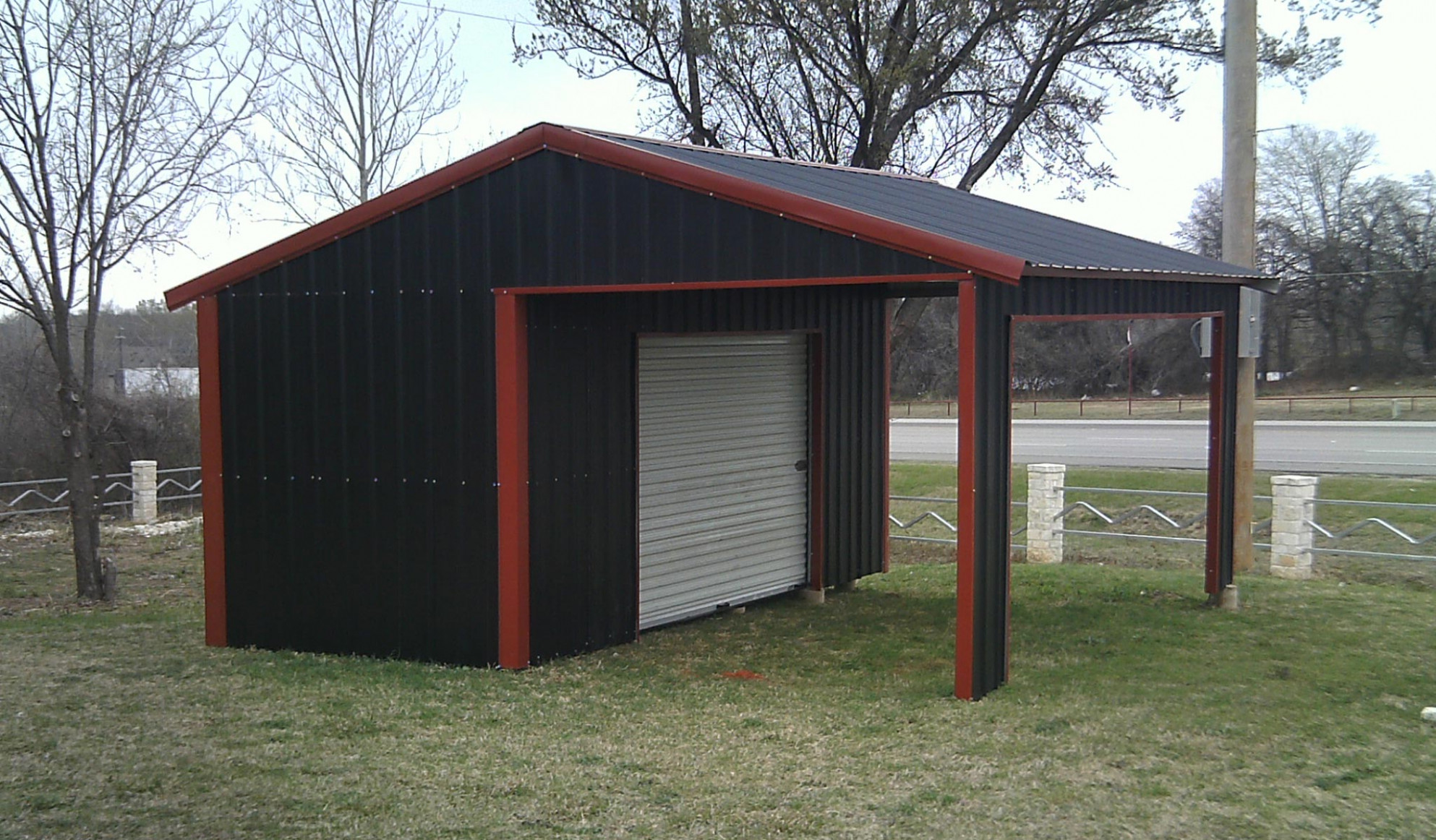 Carport With Shed Attached Breathtaking New Wooden ..