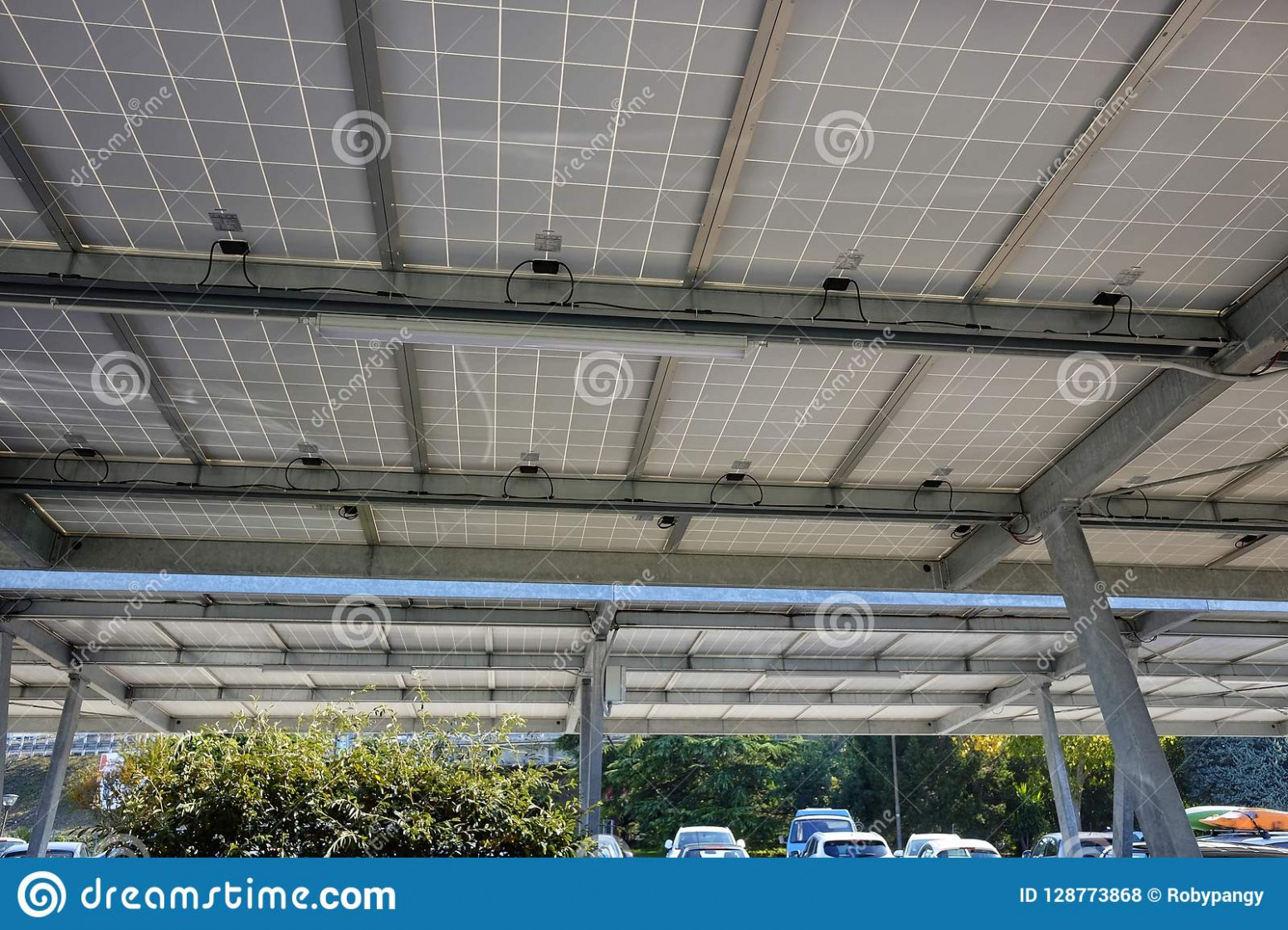 Carport With Solar Panels Stock Photo. Image Of Panel ..