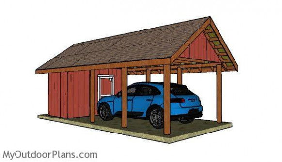 Carport With Storage Plans | MyOutdoorPlans | Free ..