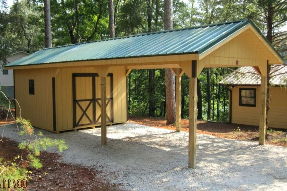 Carport With Storage Shed Attached   Citizenhunter