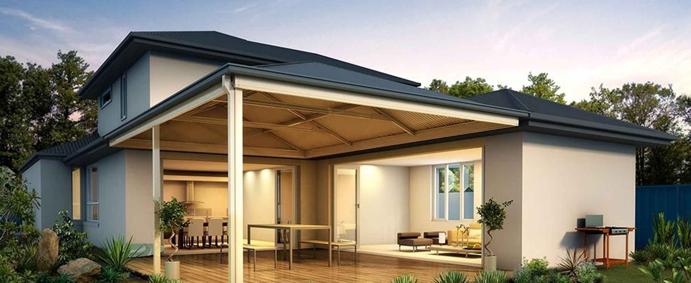 Carports And Verandahs | Southside Group Carport Attached To Hip Roof