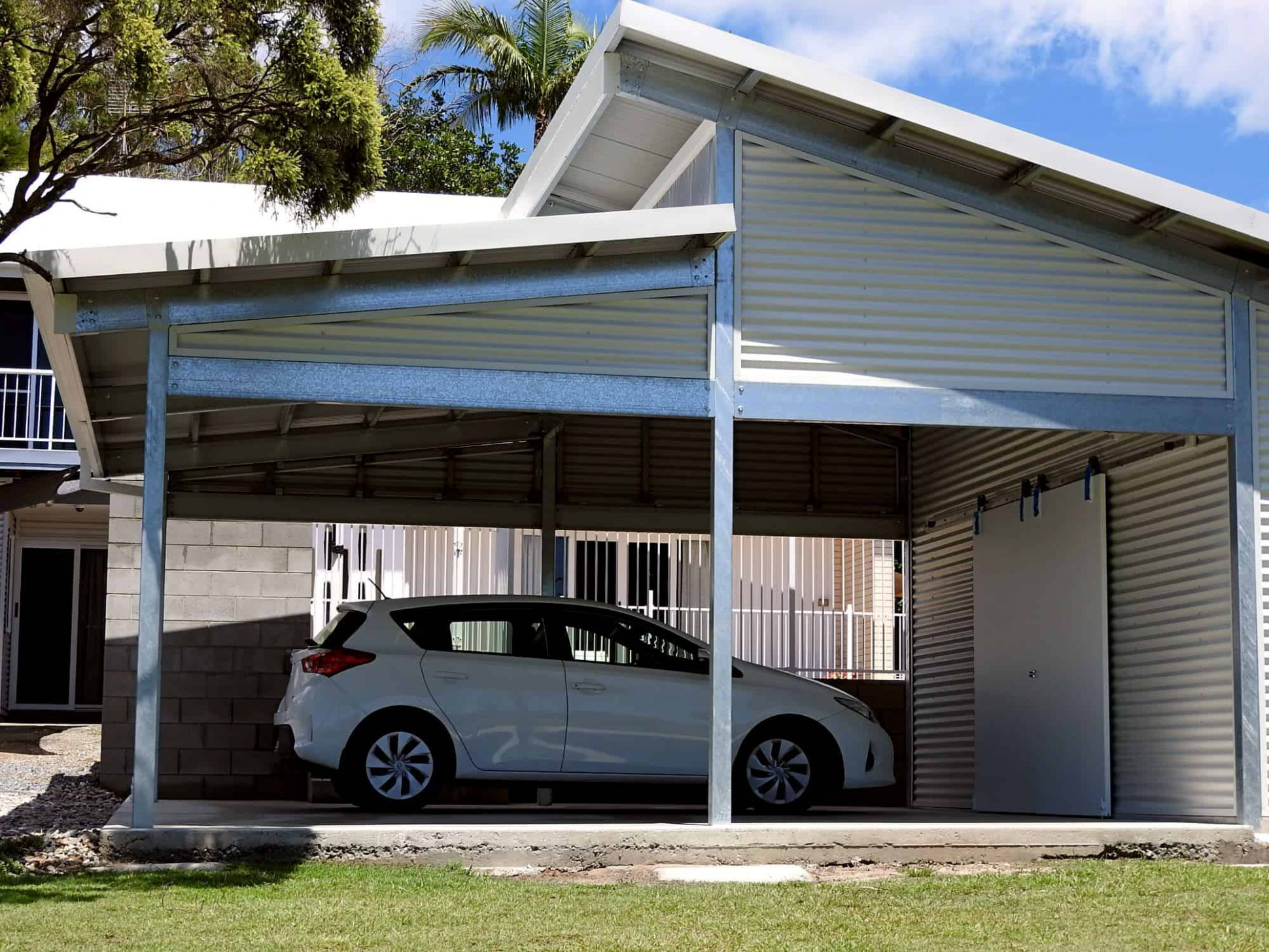 Carports | Any Size, Any Style | Carport Kits Or Installed Carports With Pitched Roofs