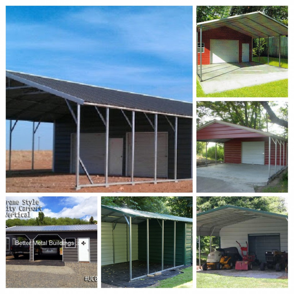 Carports – Better Metal Buildings Vertical Roof Style Carports
