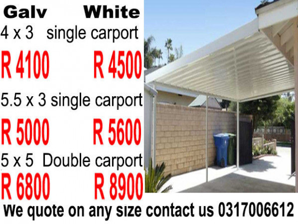 Carports Durban KZN, Materials Sold Direct To Public High ..