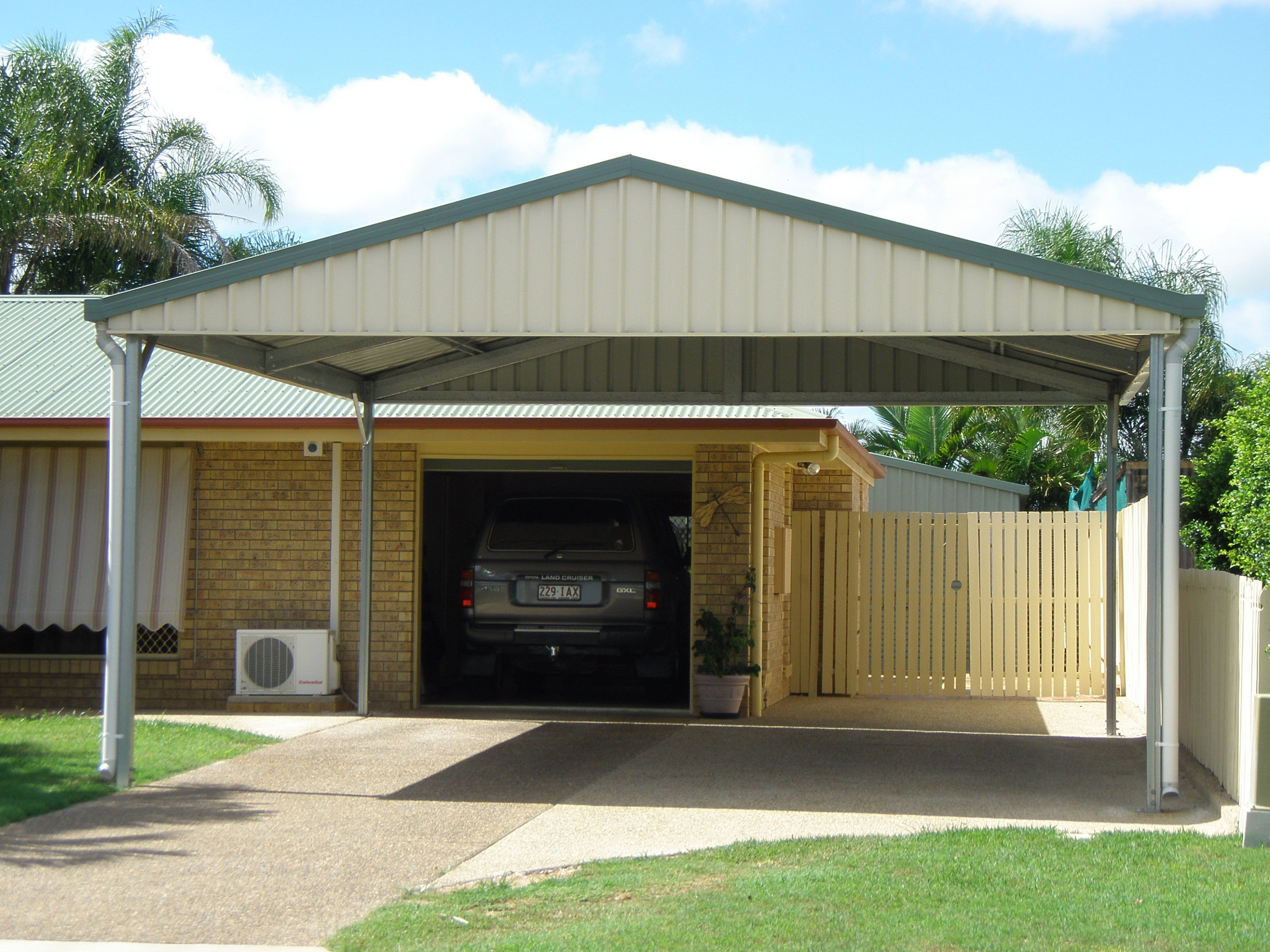Carports | Fully Constructed & DIY Kit Options | Colorbond Steel Carport Modern Kit
