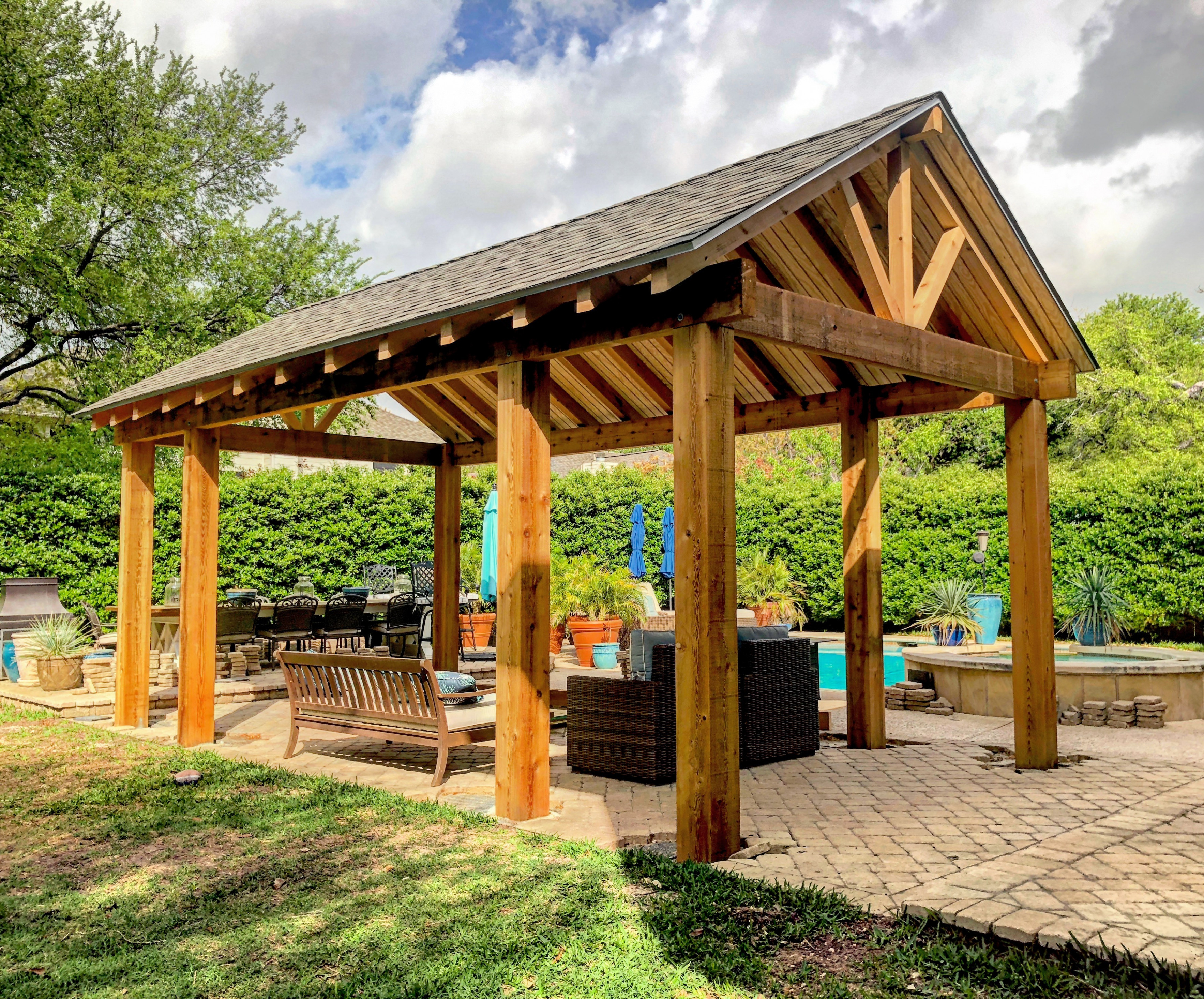 Carports In Austin TX Austin Pergola Co Free Building Plans For A Wooden Carport