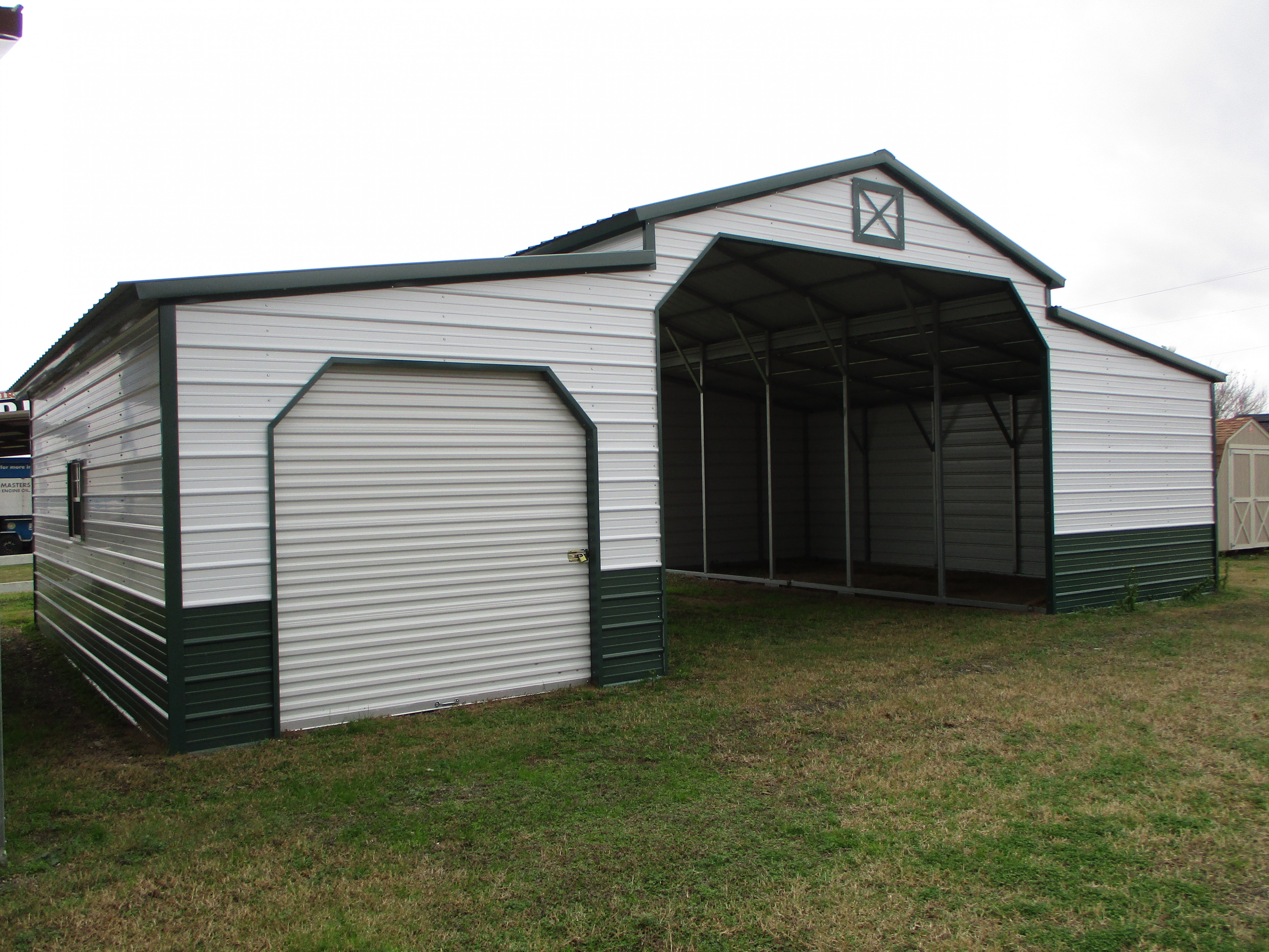 Carports Metal Garages DFW | Cleburne, Waxahachie, Hillsboro Garage With Carports