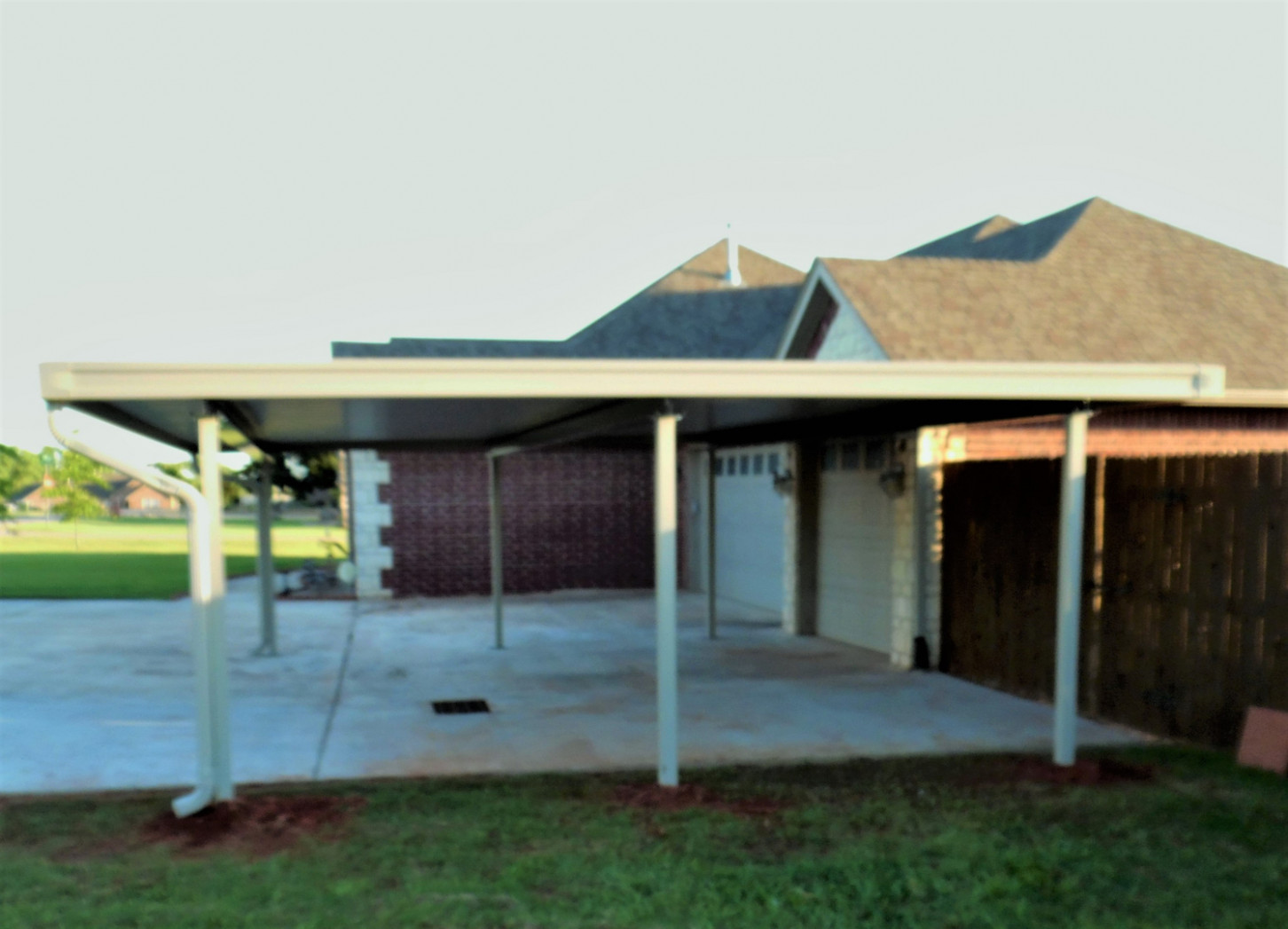 Carports Of Oklahoma Home Page Welcome Wooden Carport Attached To House