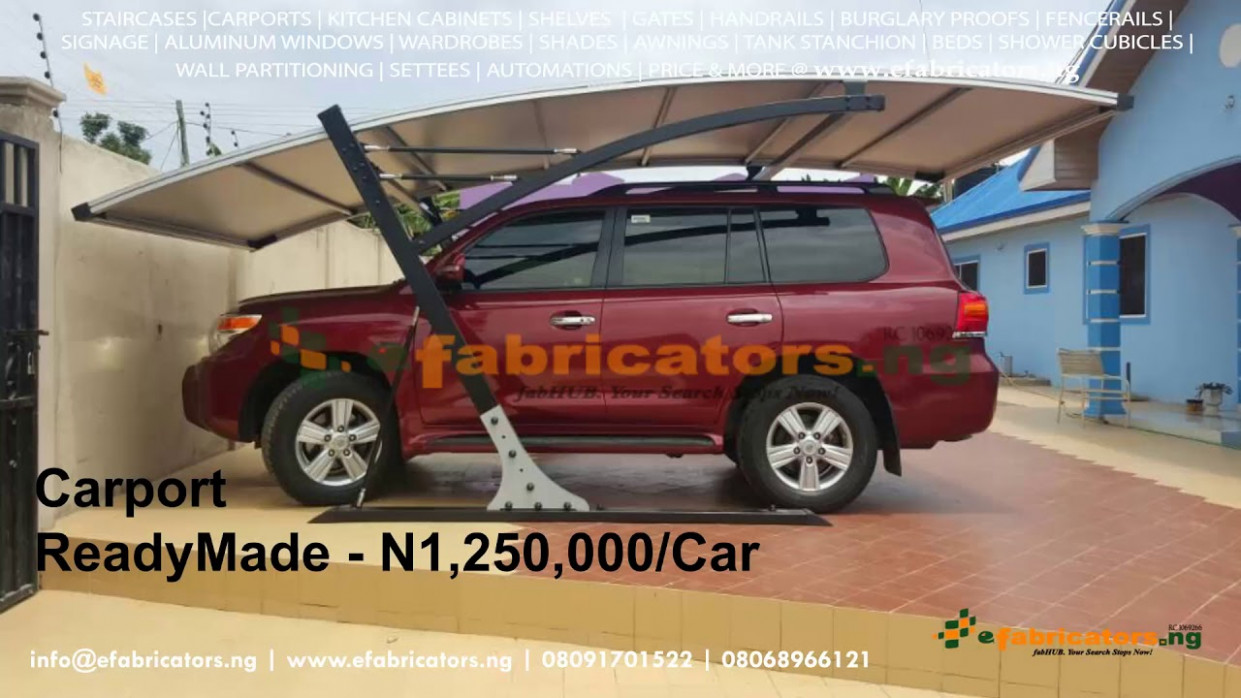 Carports Prices In Nigeria – Eyesight Fabricators 12 Carport Parking Kits