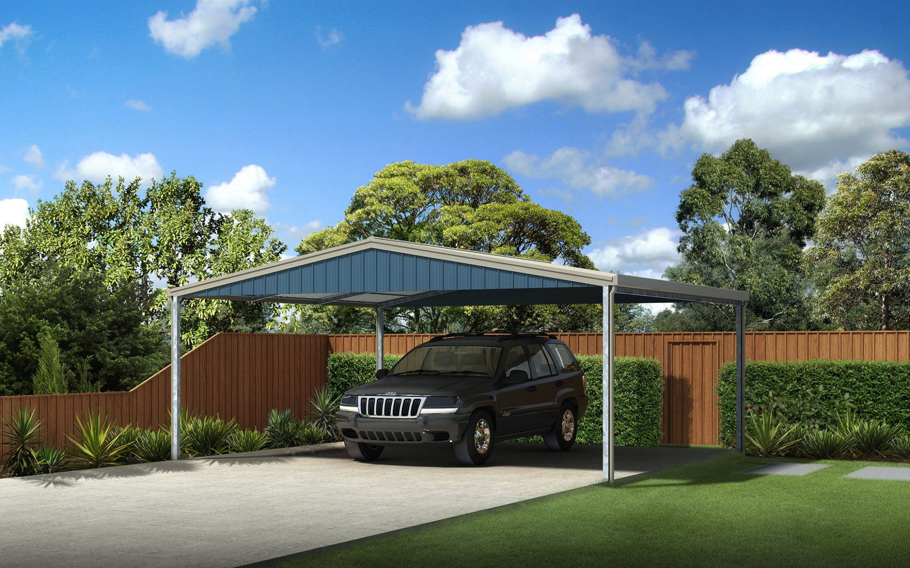 Carports Sheds And Garages For Sale Ranbuild Double Garage With Carport