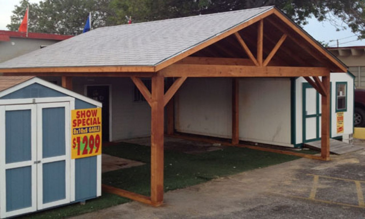 Carports Sheds, Wood Storage Shed Carport Wood Frame Carport ..