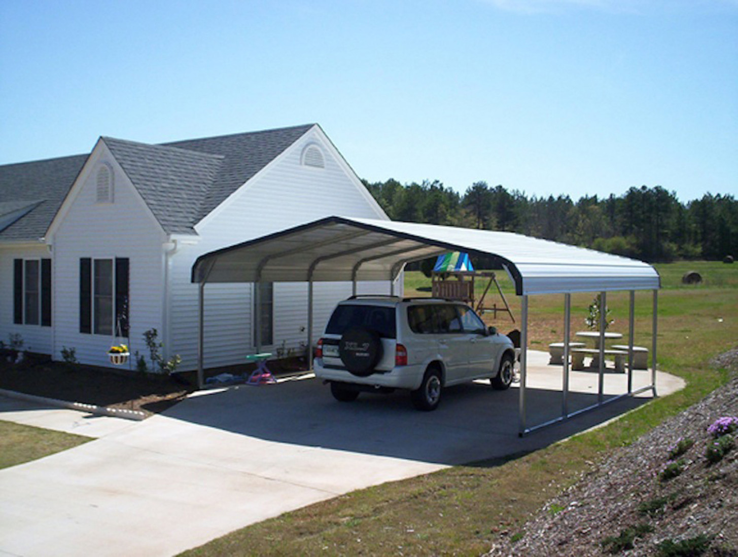 Carportsnsheds   Buying Guide Carport Flat Roof Plans