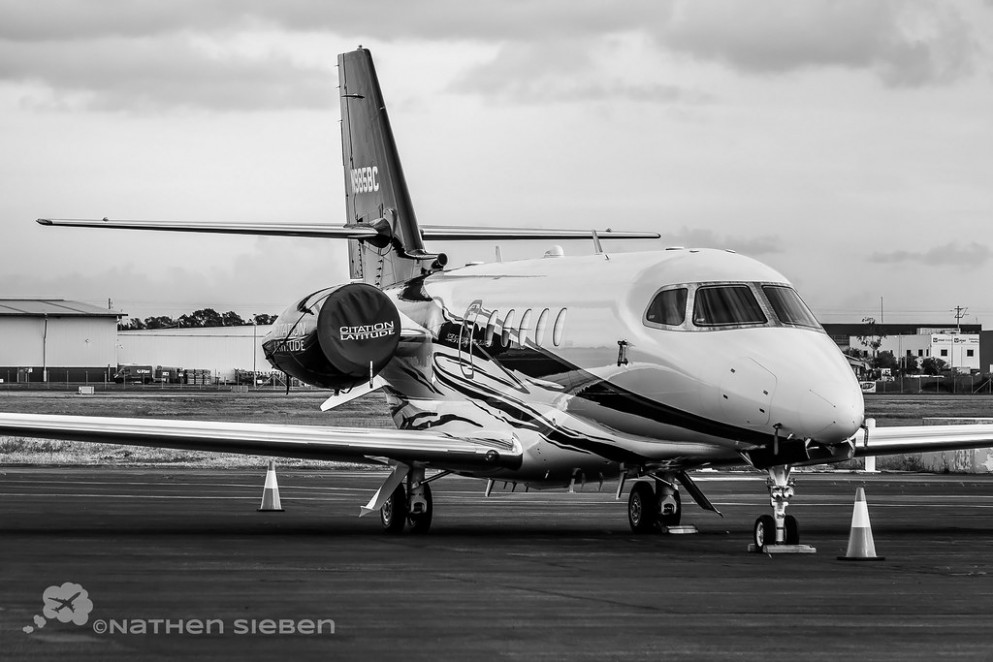 Cessna Citation Latitude N985BC YBBN Brisbane Airport Parking
