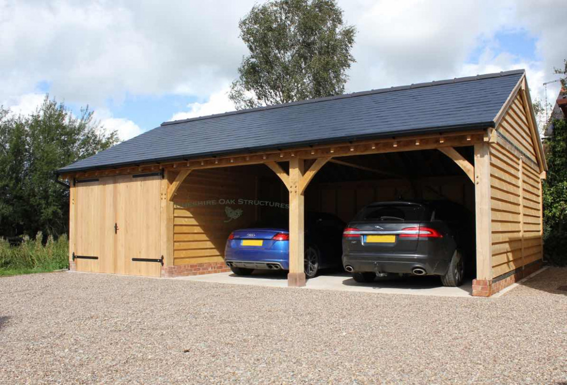 Cheshire Oak Structures Wooden Carport Structures