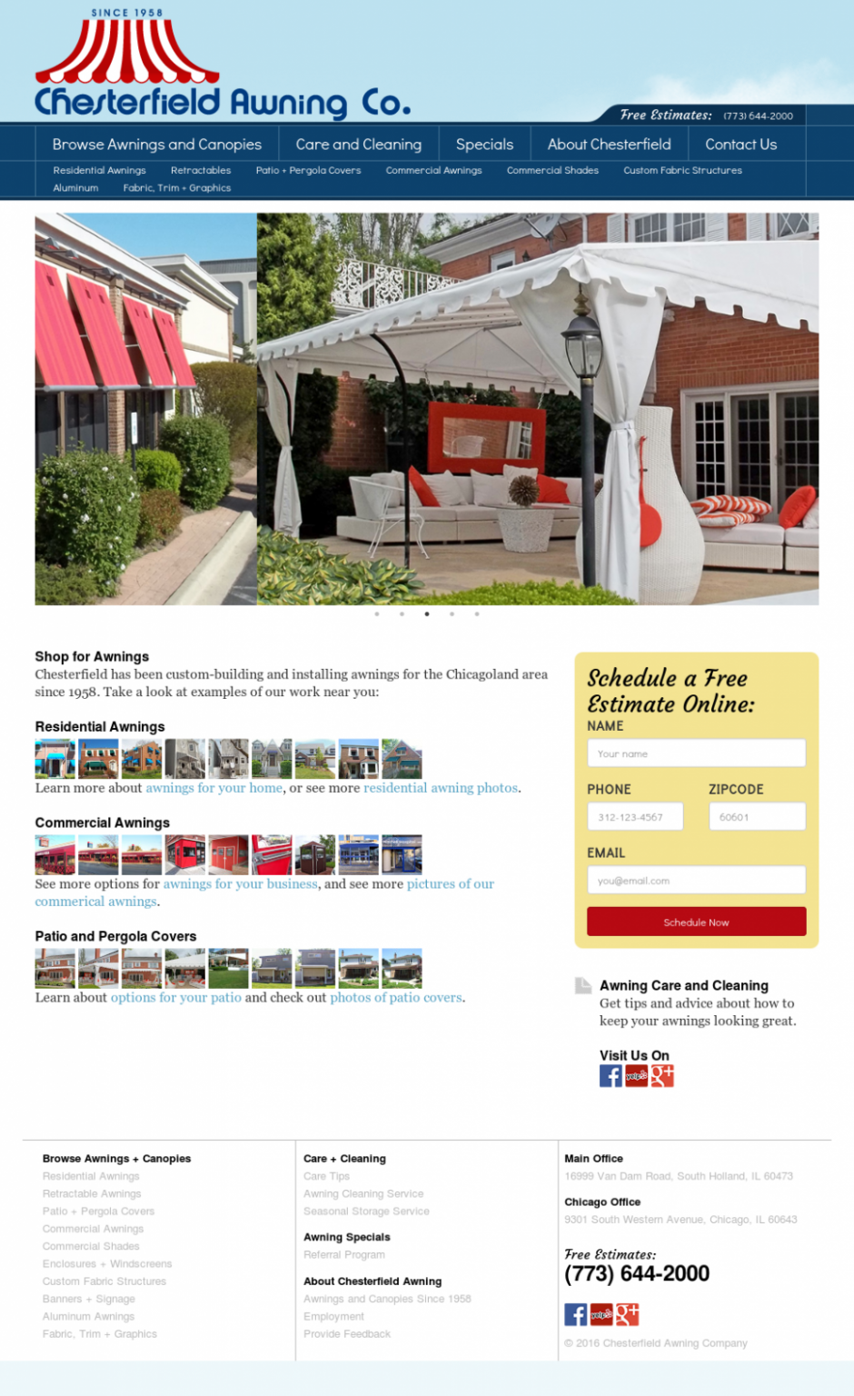 Chesterfield Awnings South Holland Il Silver Top Awning ..