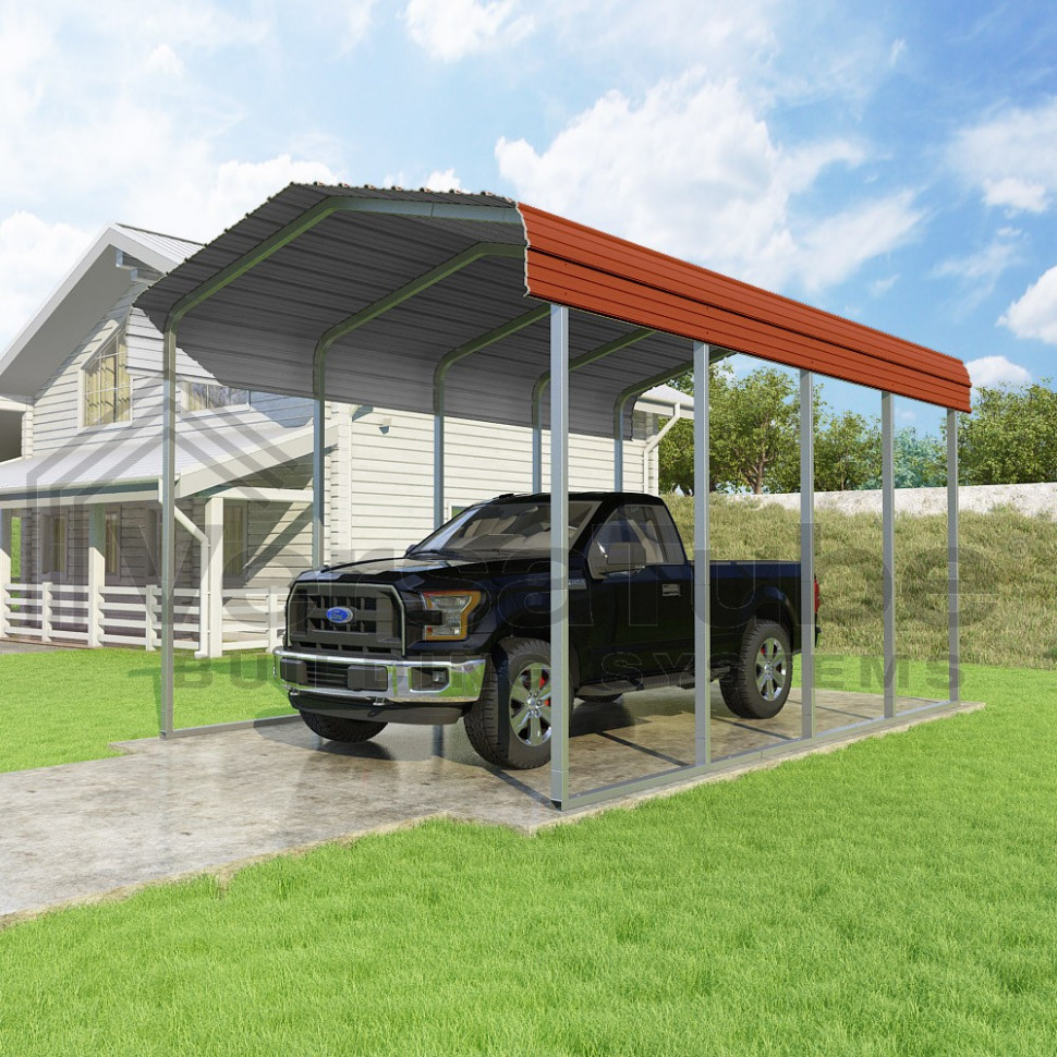 Classic Carport Roof Only 12 X 20 X 10 Carport Metal Roof Installation