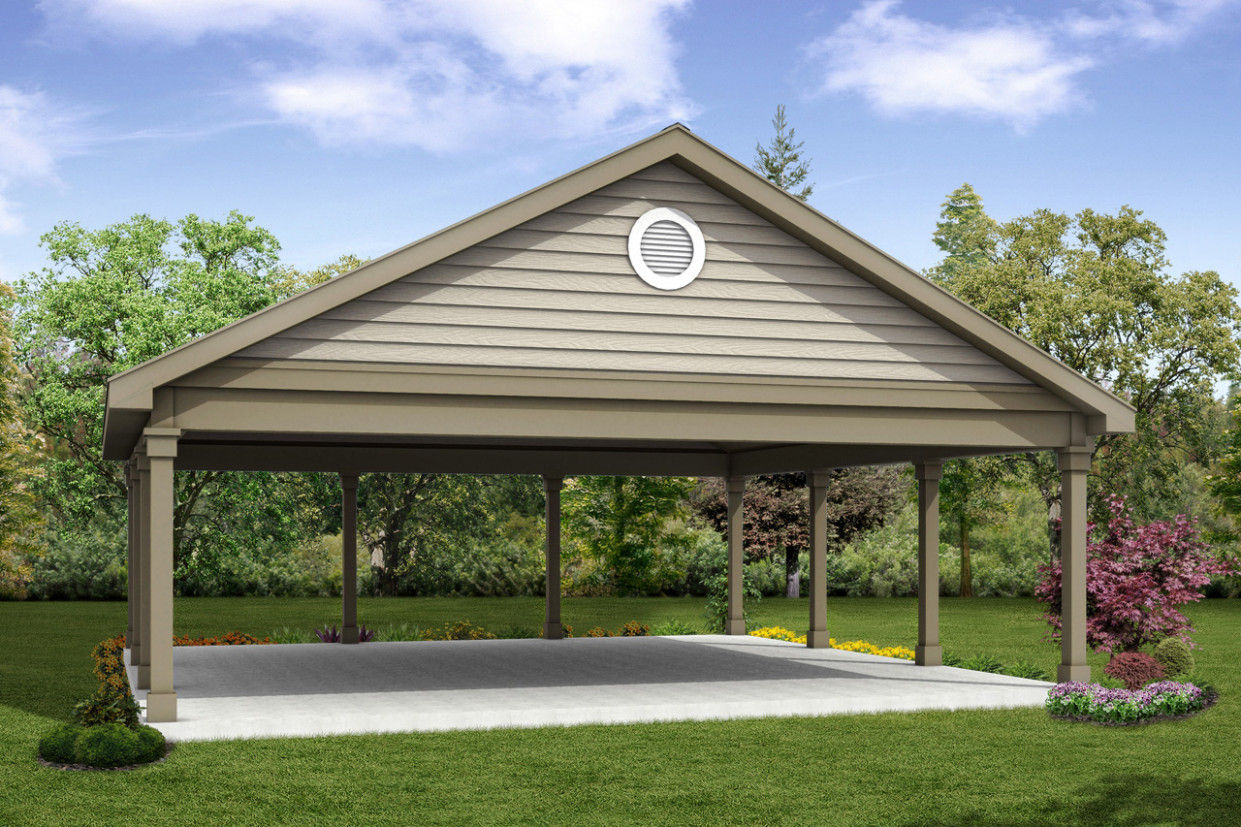 Classic House Plans Carport 20 055 Associated Designs Garage Carport Gebraucht