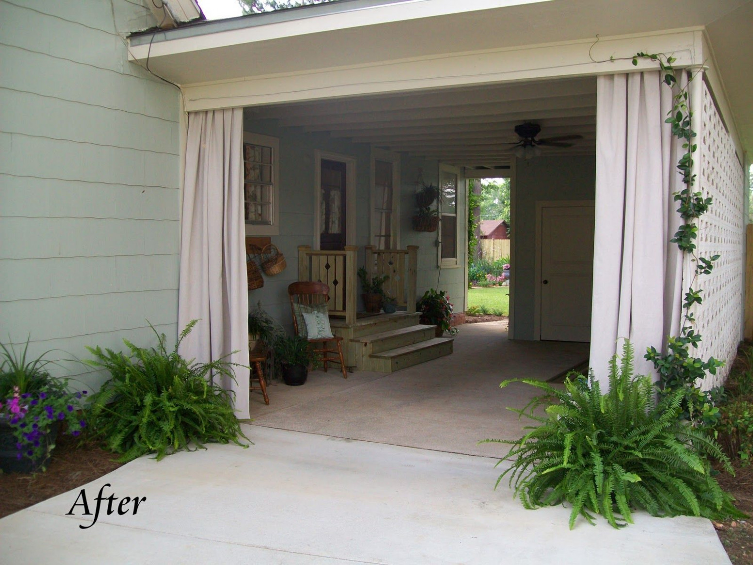 clever use of carport... turned breezy patio! | creative ...