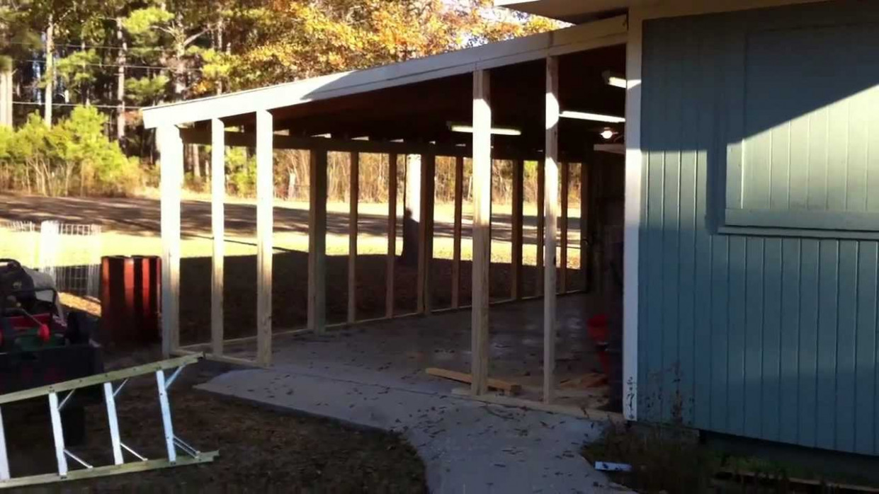 Close In A Carport 1/4 YouTube Ideas For Closing In A Metal Carport