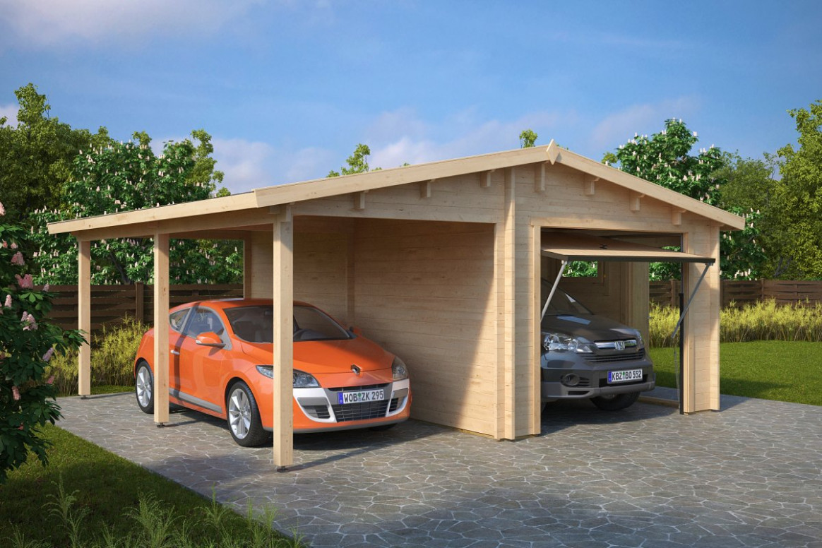 Combined Garage and Carport with Up and Over Door Type G ...