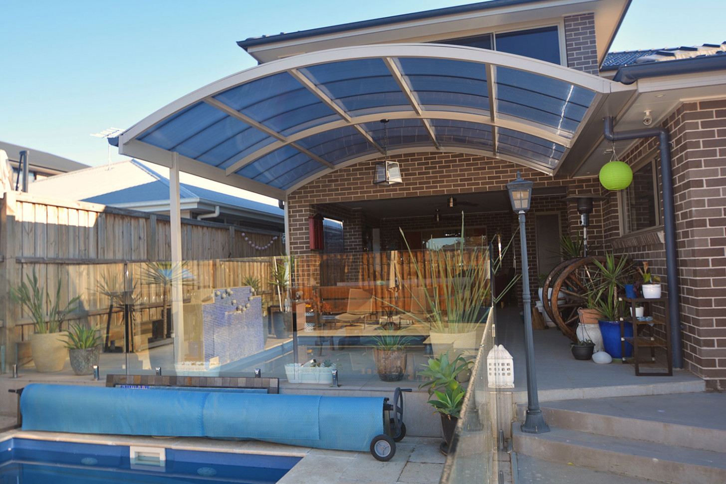 Commercial Awnings For Flat & Pitched Roofs | ATS Awnings Curved Roof Carports Sydney