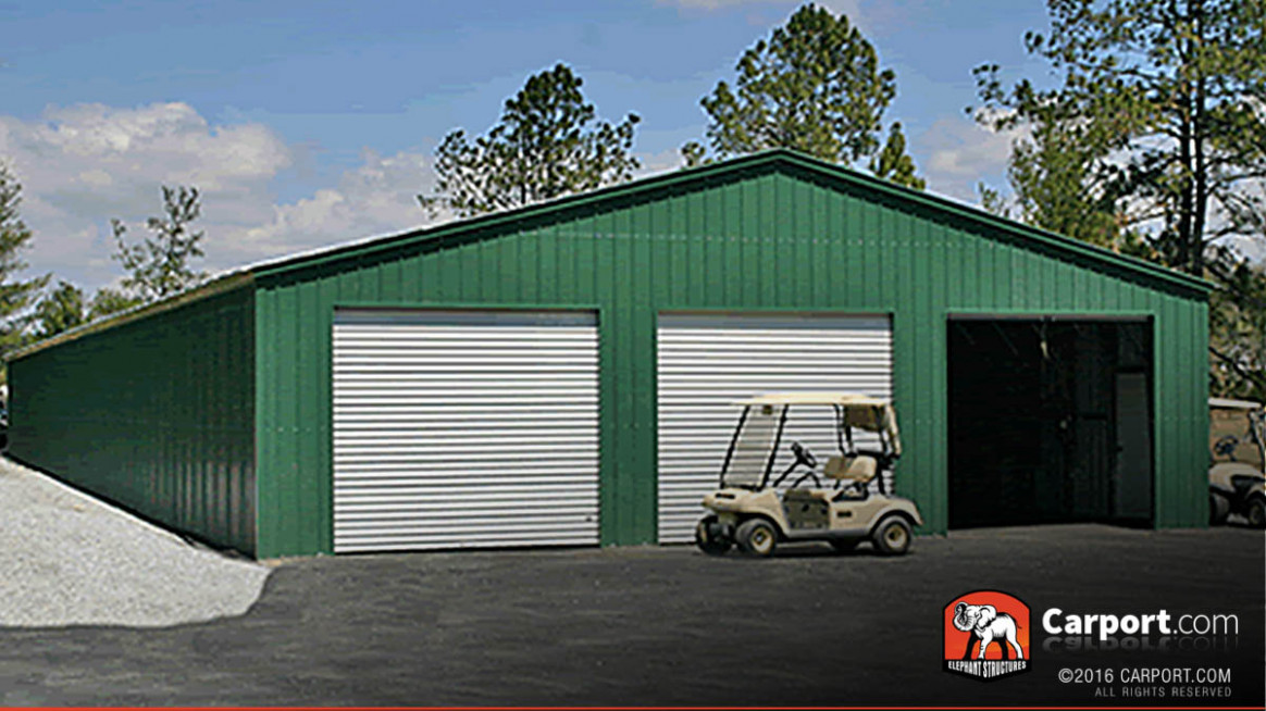 Commercial Storage Building 13′ Wide X 13′ Long X 13′ High Pole Barn Vs Carport Garage