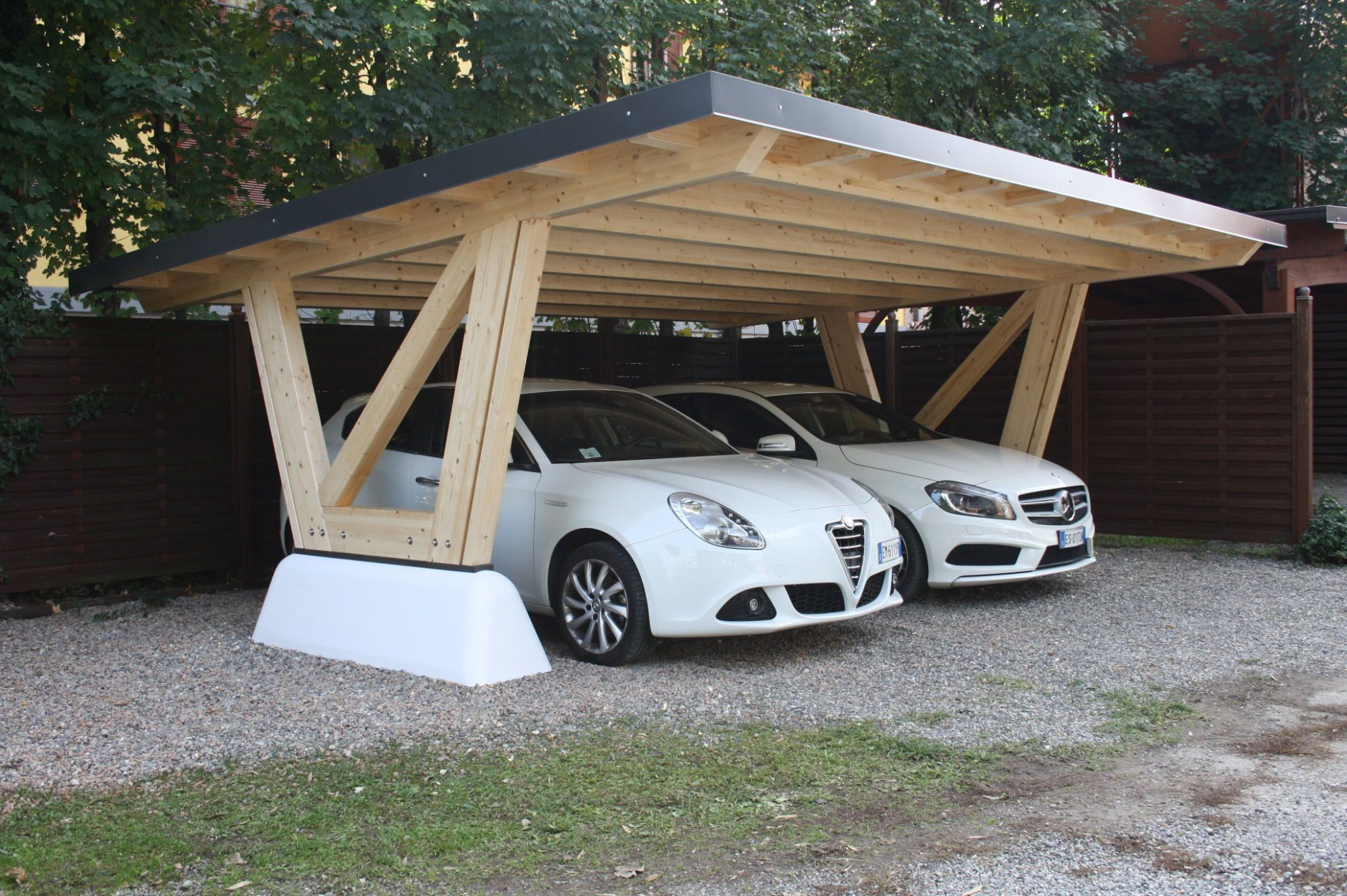 Concrete Carport / Wood NEW YORK Gazebodesign | Carport In ..