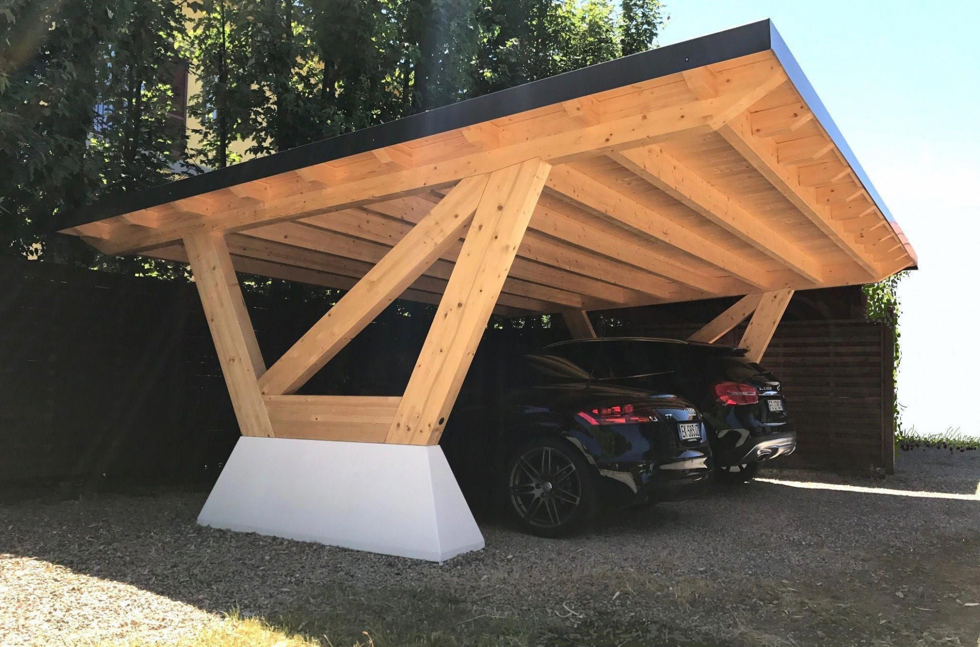 Concrete Carport / Wooden NEW YORK Proverbio Outdoor Design ..