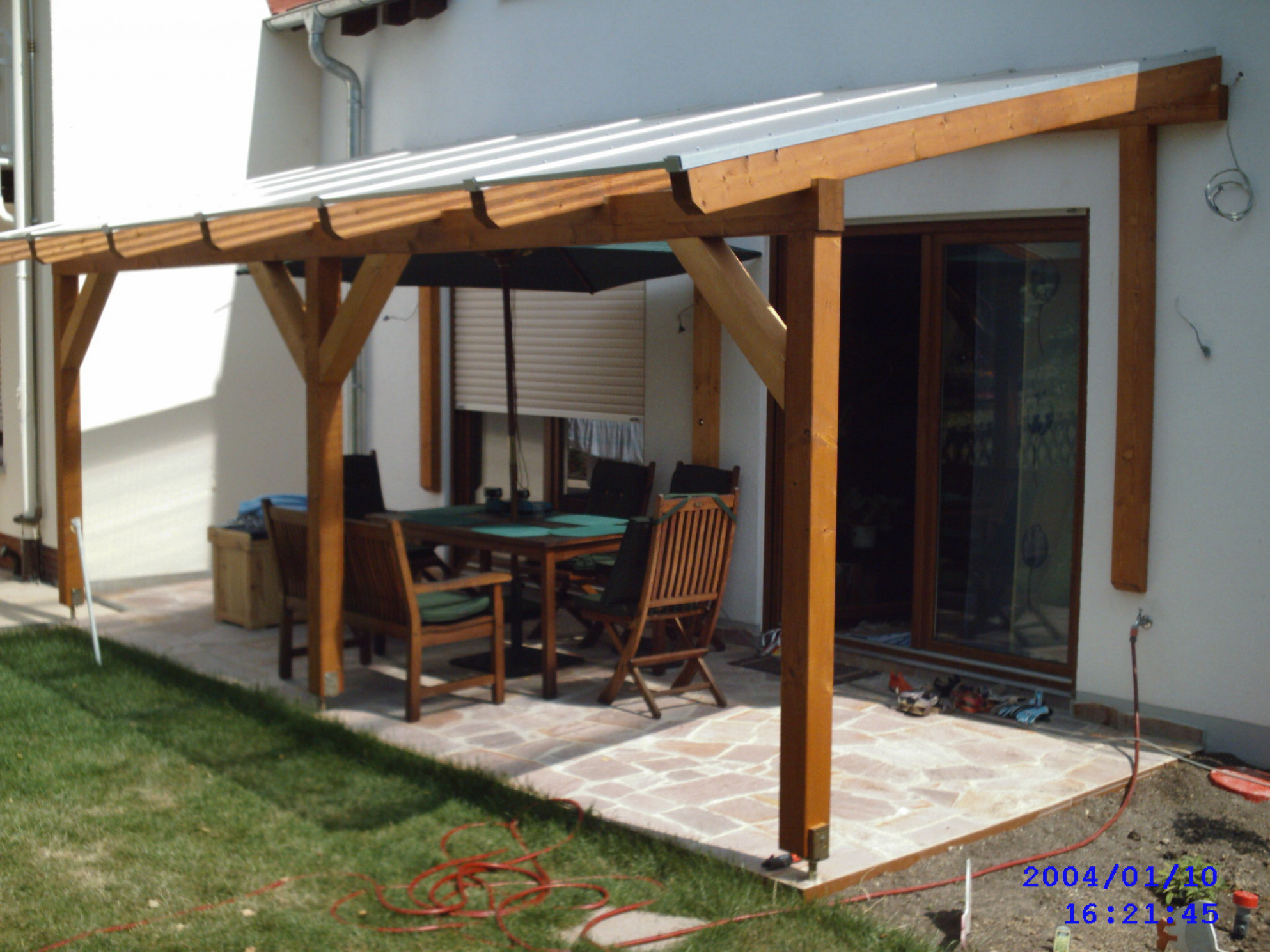 Construction timber patio roof 2 - Garden House wood Shop