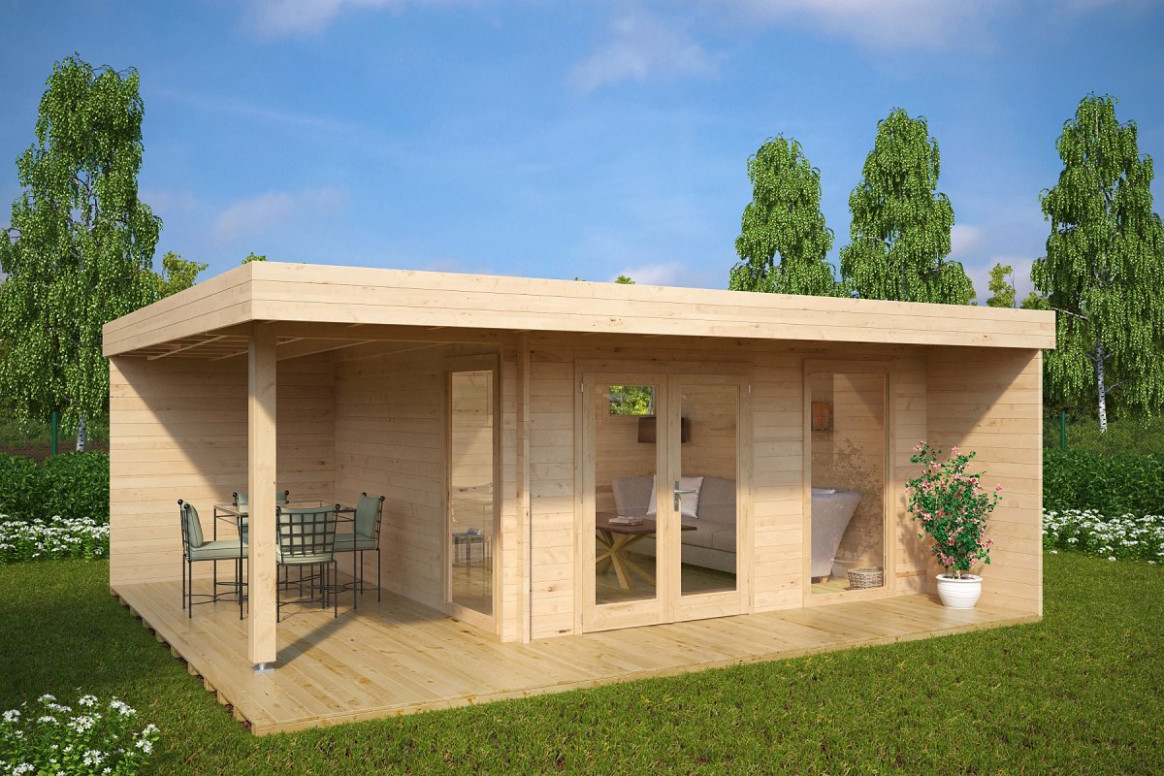 Contemporary Garden Rooms From Experts – Summer House 24 Carports Contemporary Xl