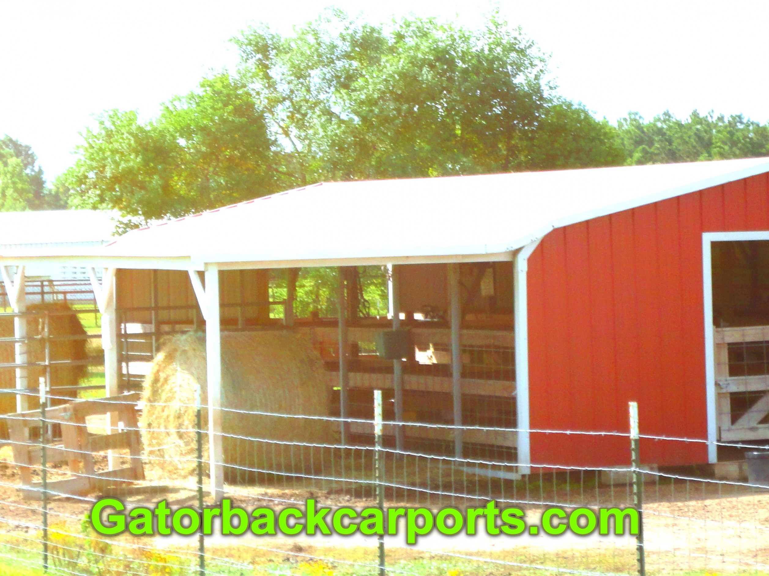 Convert A Cheap Carport Into A Barn Gatorback CarPorts Simple Carport Ideas