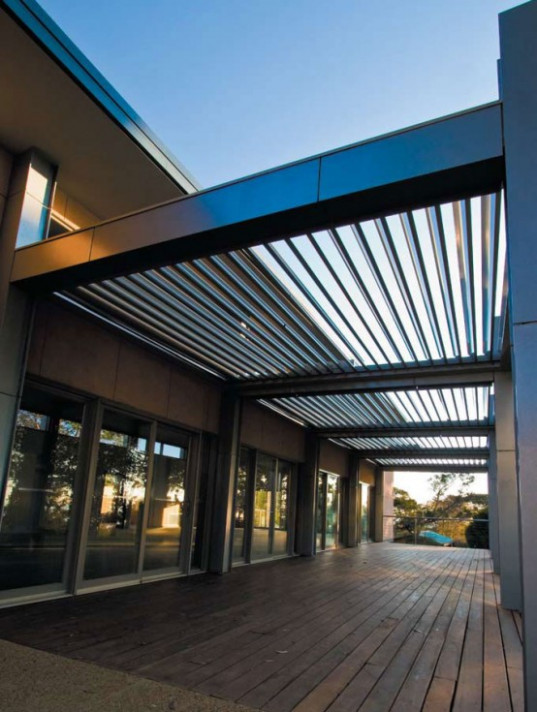 Cool Idea For Patio Opening Roofs By Louvretec DigsDigs Mid Century Modern Home With Carport
