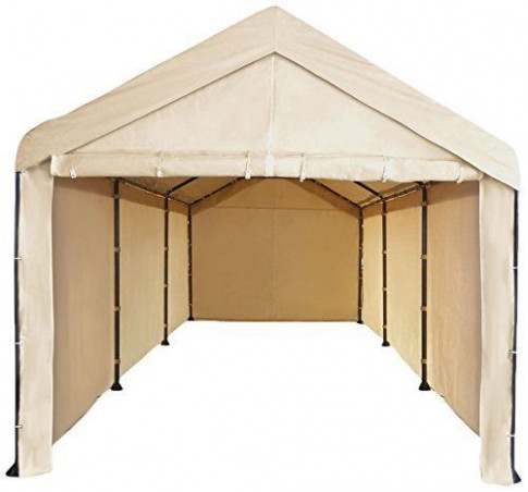 Costco 10x20 carport frame cover - fits the dark brown ...