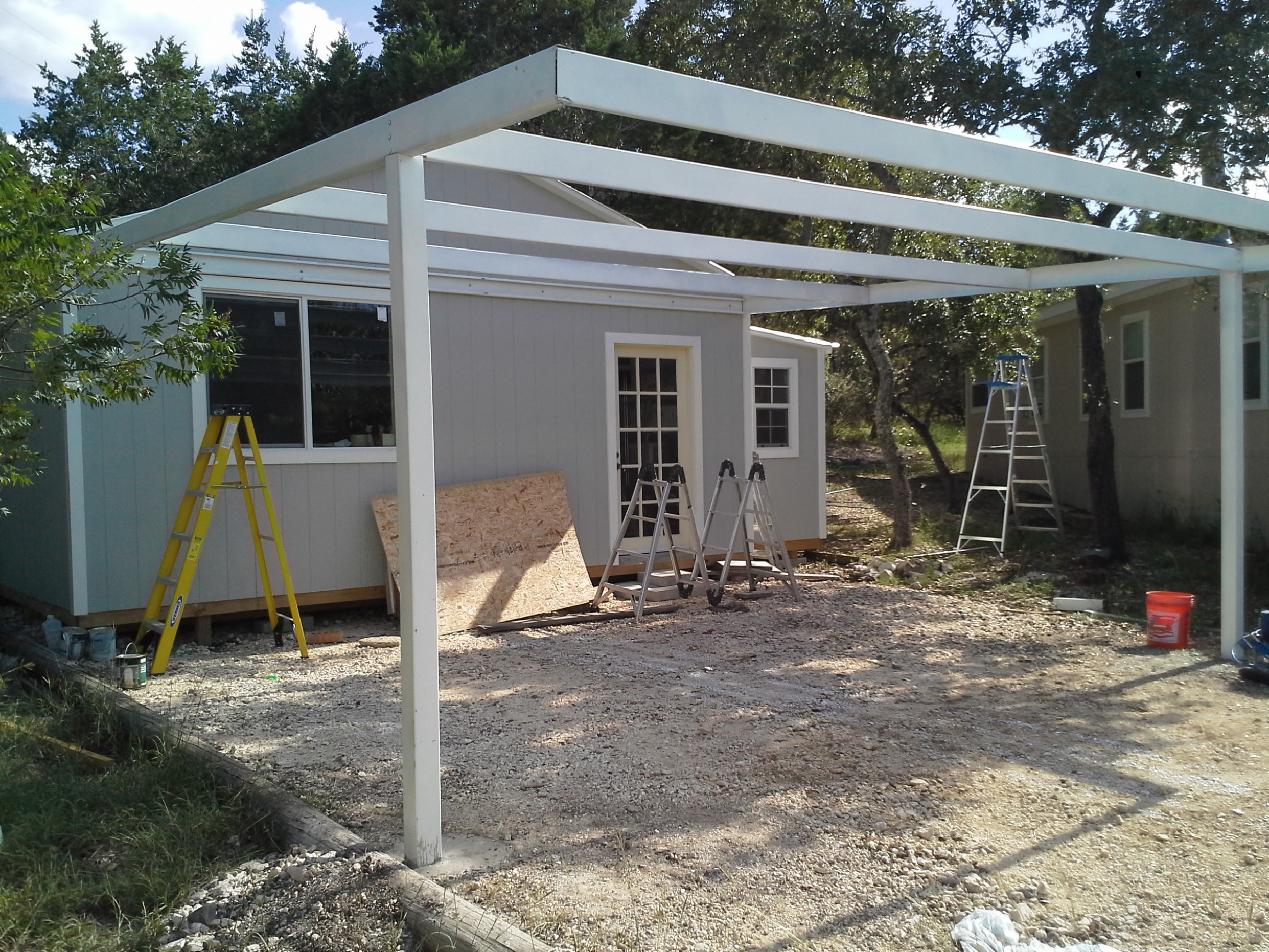 Cotulla, Texas Attached Custom All Steel Carport Carport ..