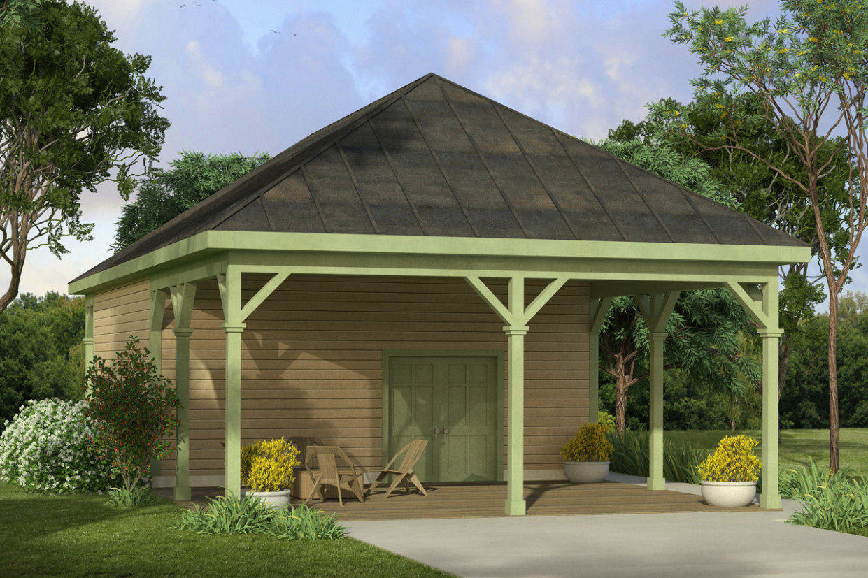 Country House Plans Shop W/Carport 13 13 Associated Designs Design Carport Garage