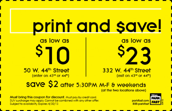 Coupons For New York City Parking Garages : Coupons For ..