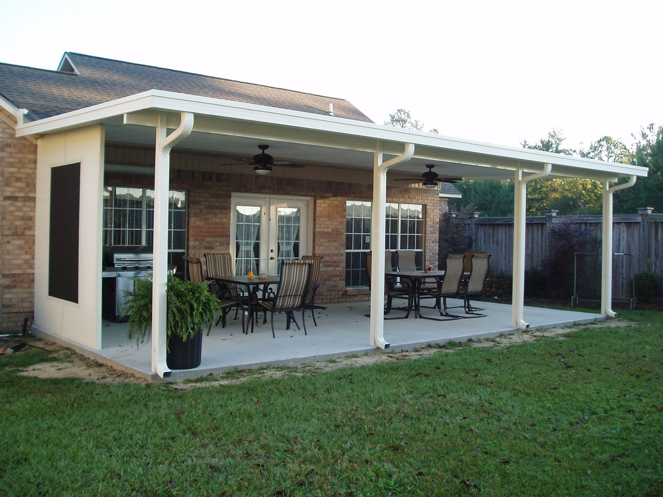 Covered Patio With Gutters Google Search | Yard ..
