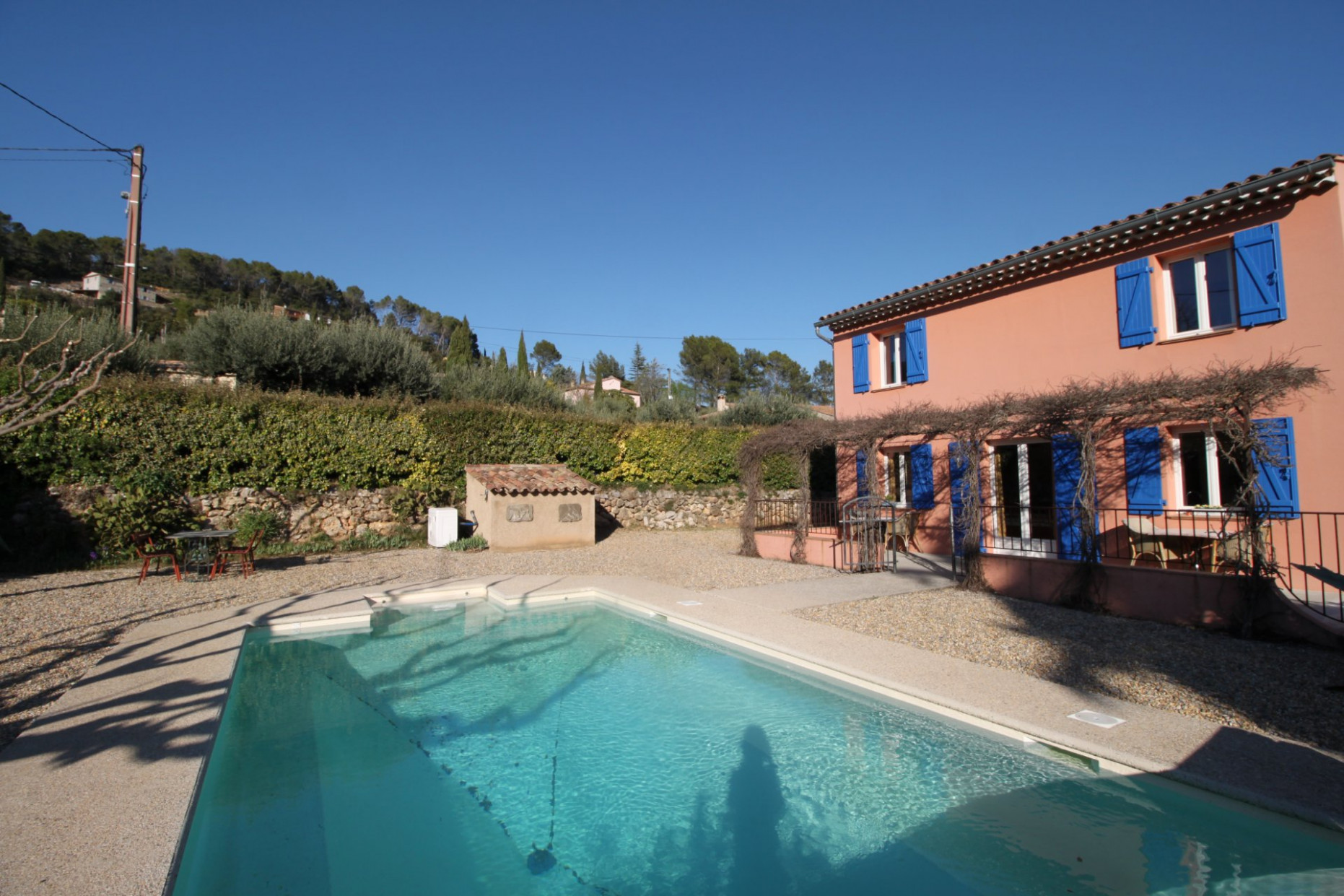 Cozy Villa Close To The Village, With Pool And Garage Carports Garage Pool House