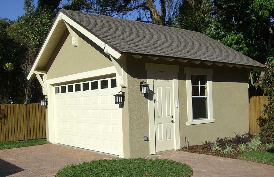 Craftsman Style Detached Garage Plan 44080TD ..