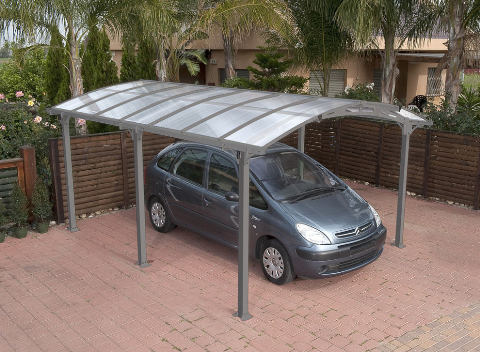 Curved Roof Canopy, Carport In Grey Freestanding | EBay Curved Roof Carport Kits
