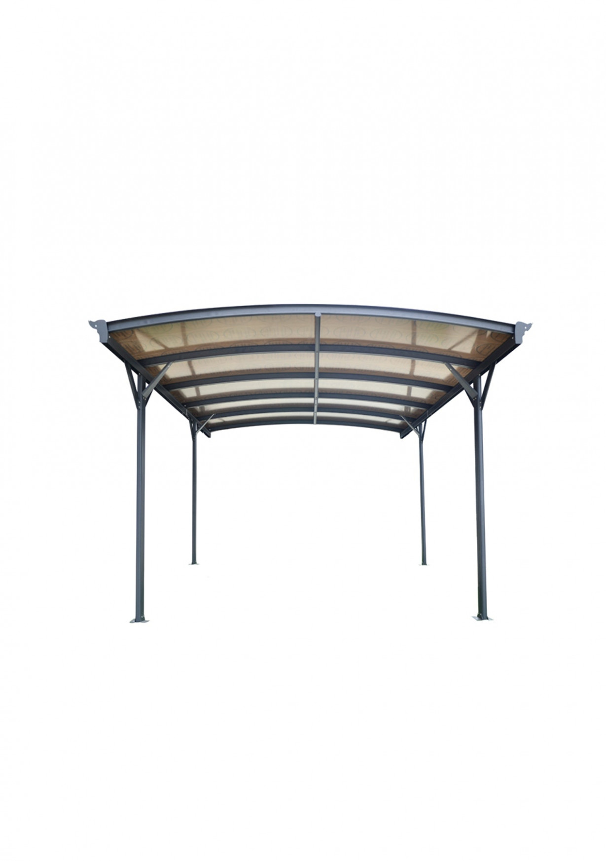 Curved Roof Freestanding Canopy/Carport 12L X 12W X 12H Carport Wall Decoration